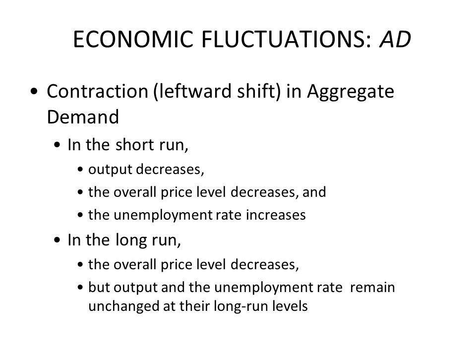 ECONOMIC FLUCTUATIONS: AD