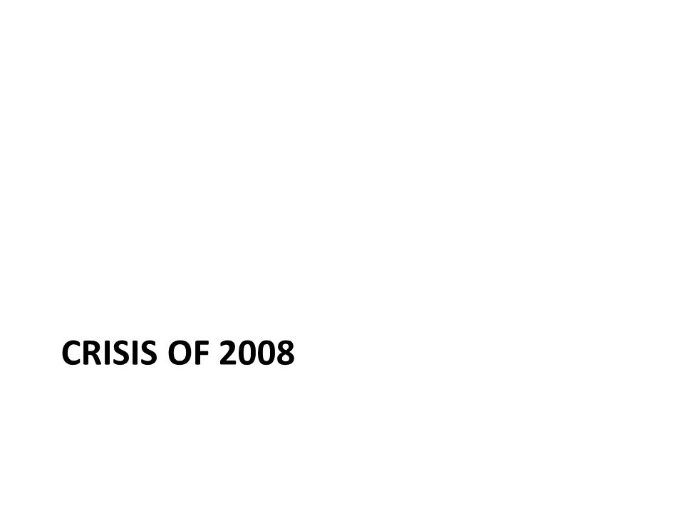 Crisis of 2008
