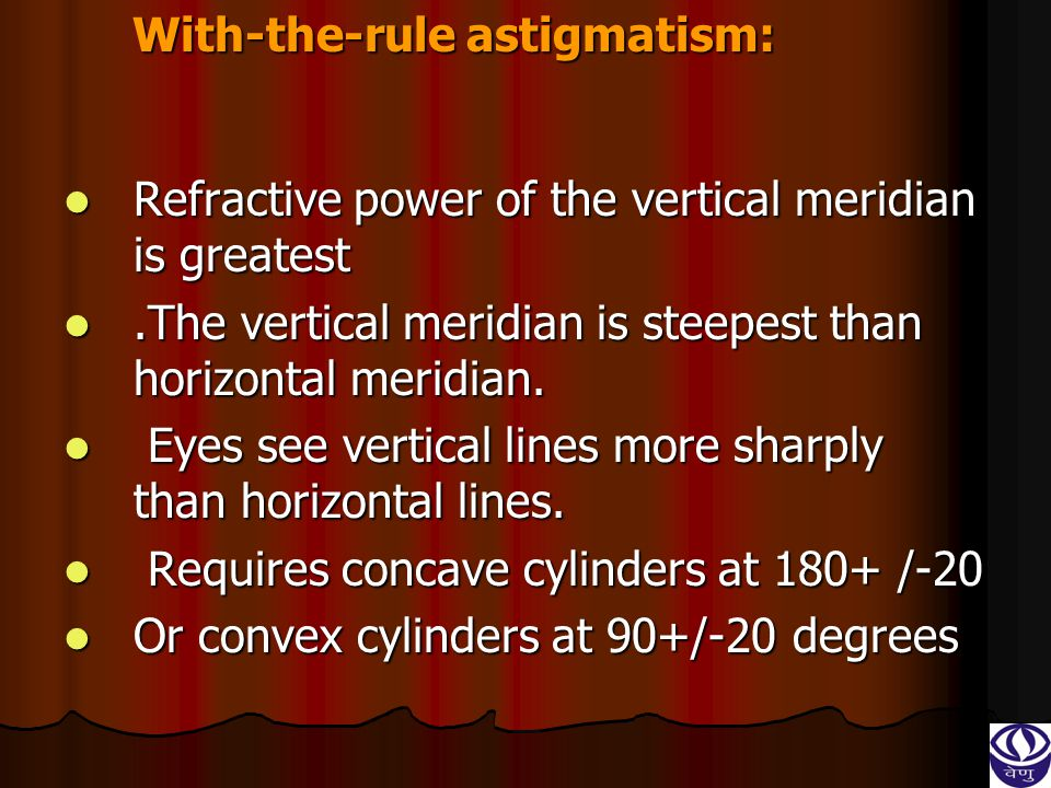With-the-rule astigmatism: