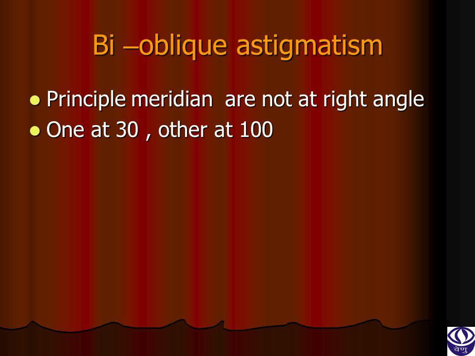 Bi –oblique astigmatism
