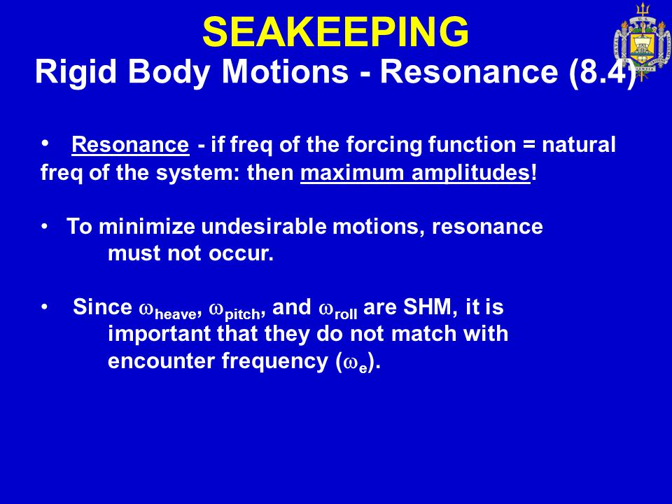 Rigid Body Motions - Resonance (8.4)