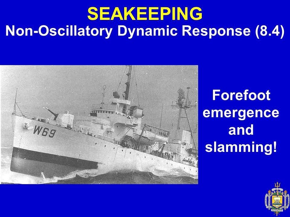 SEAKEEPING Non-Oscillatory Dynamic Response (8.4)
