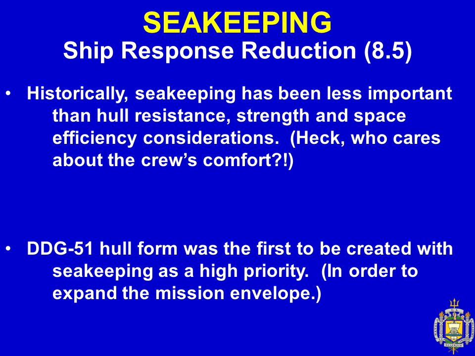 Ship Response Reduction (8.5)