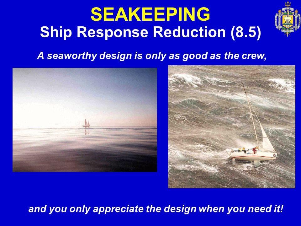 SEAKEEPING Ship Response Reduction (8.5)