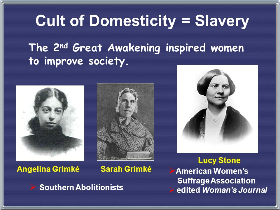 Cult of Domesticity = Slavery