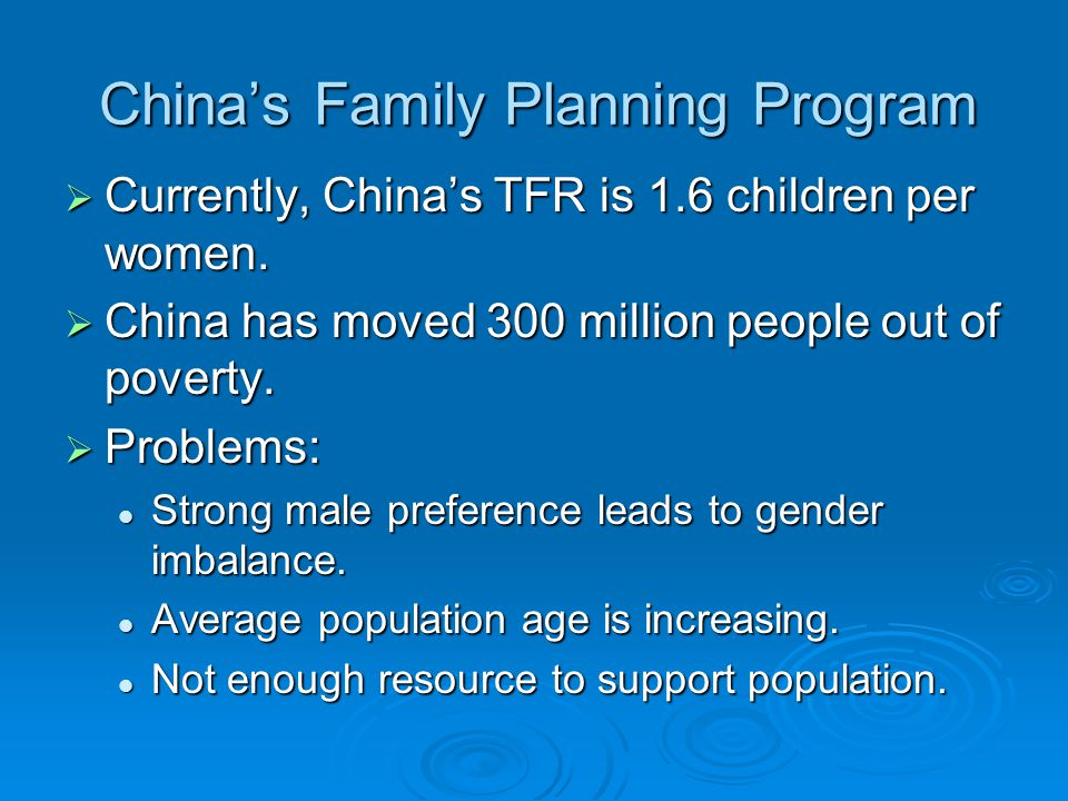 China's Family Planning Program