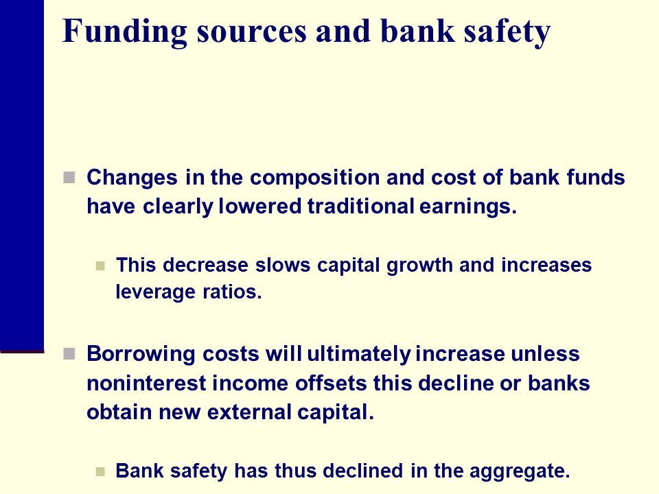Funding sources and bank safety