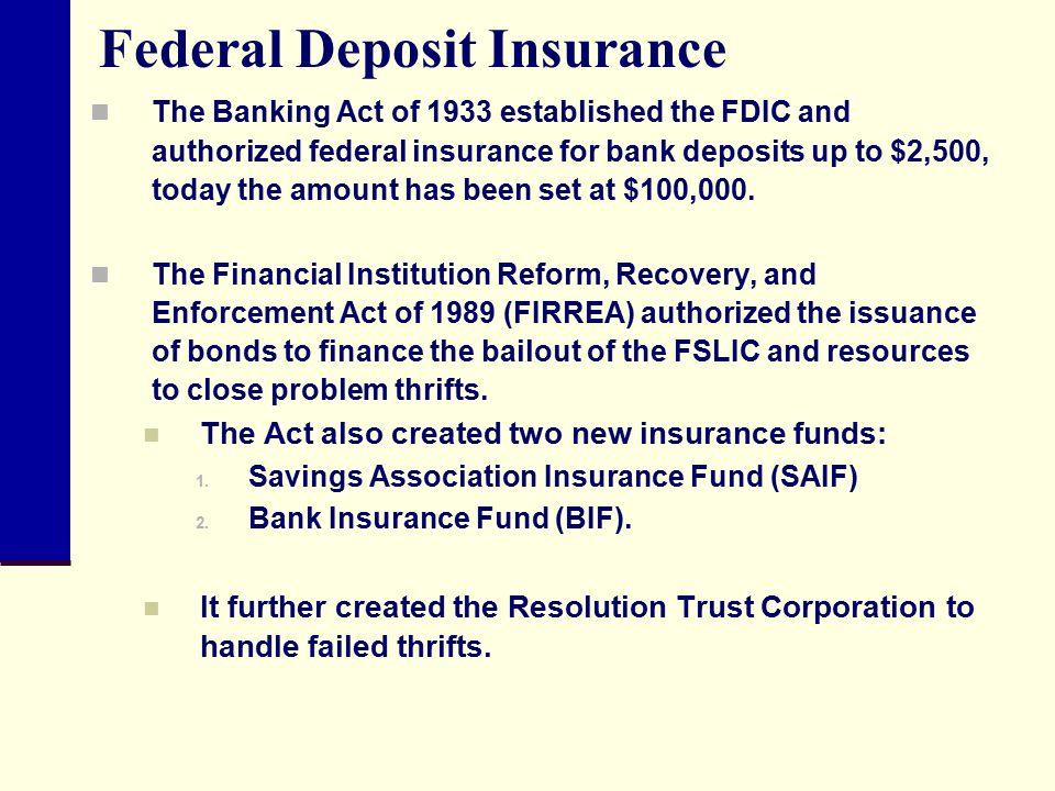 Federal Deposit Insurance