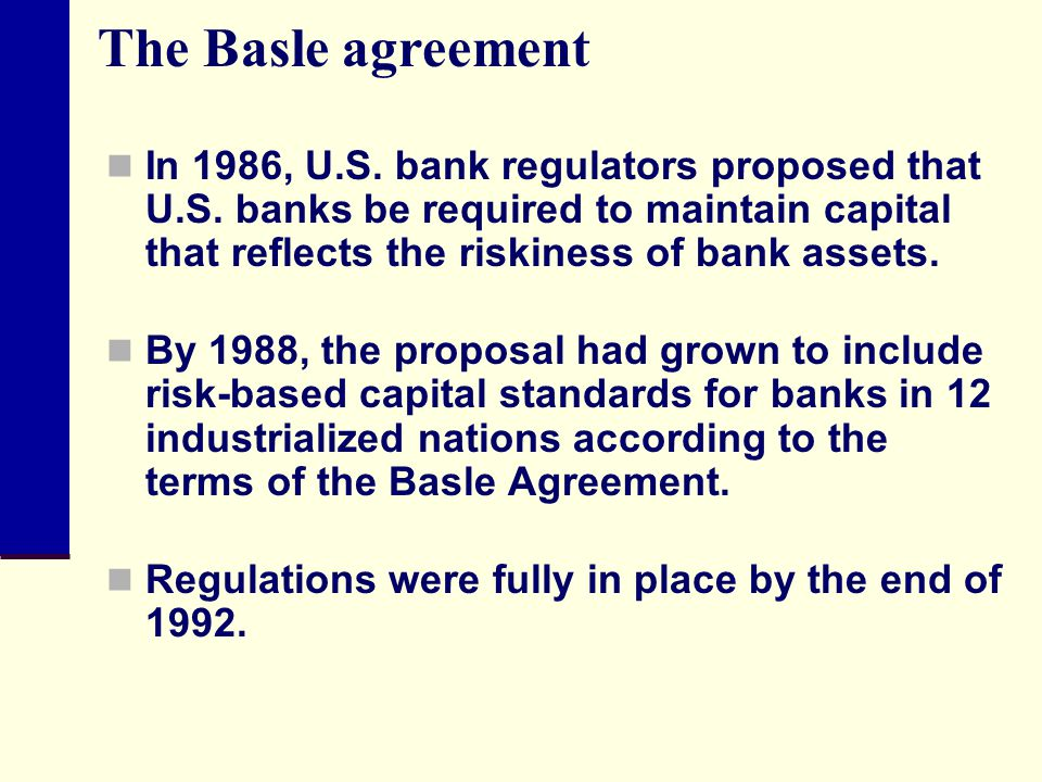 The Basle agreement