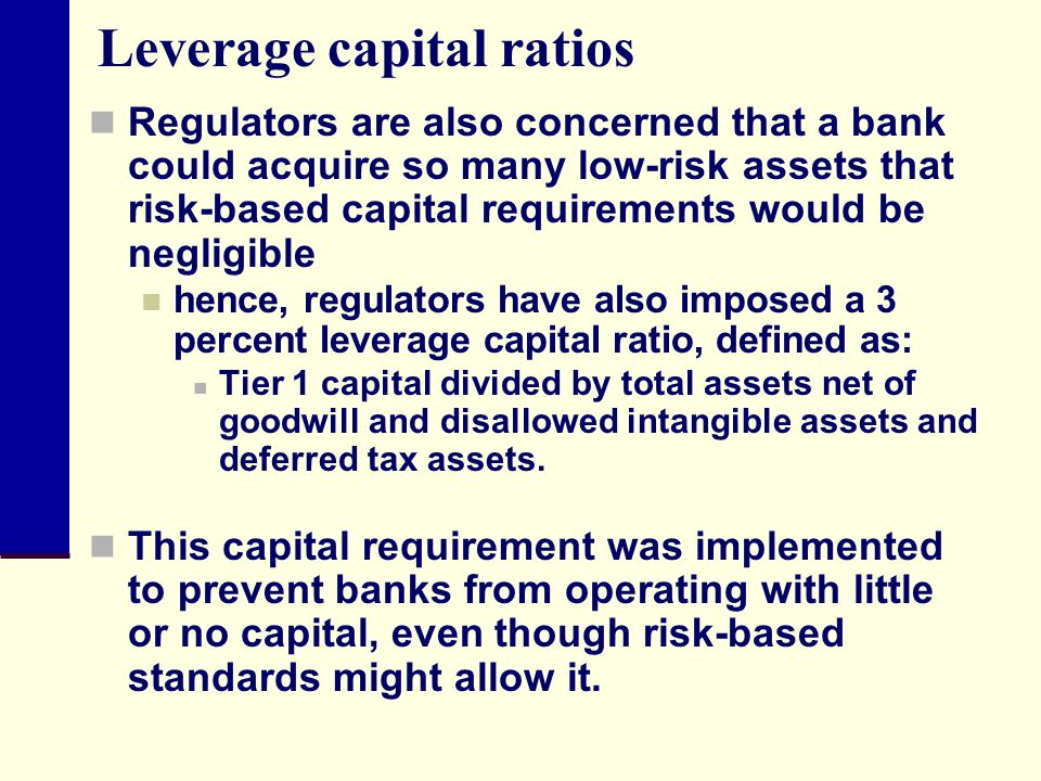 Leverage capital ratios