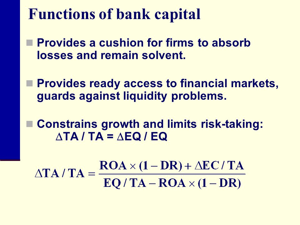 Functions of bank capital