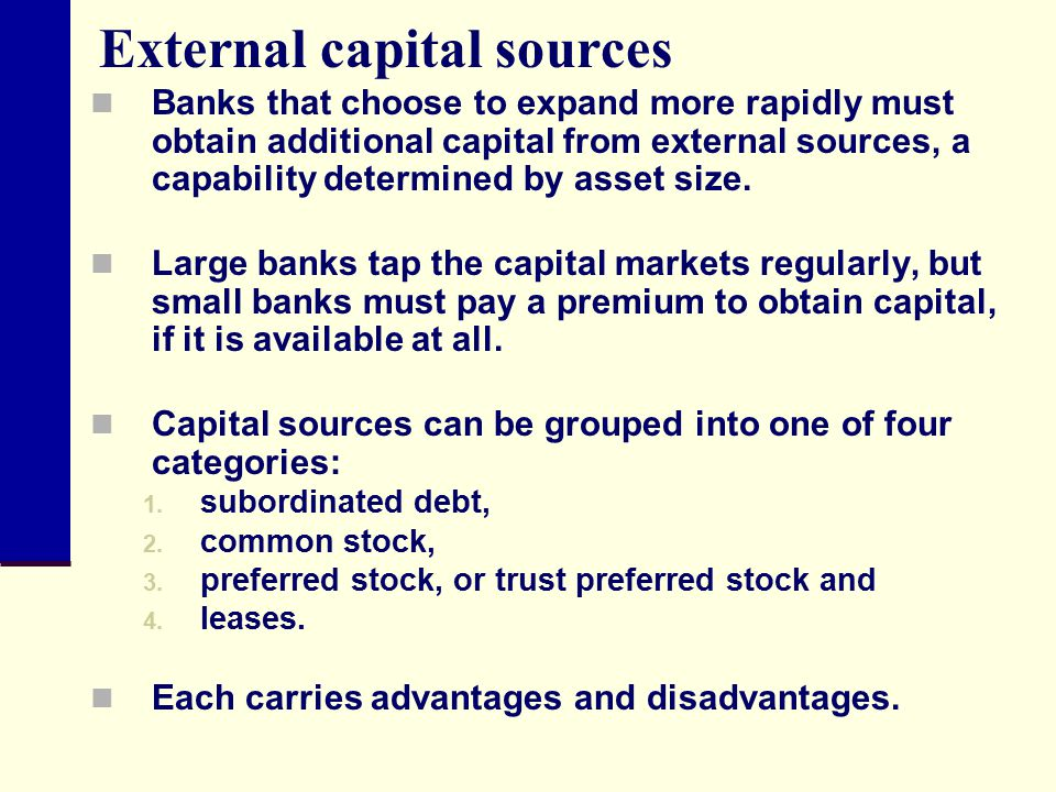External capital sources