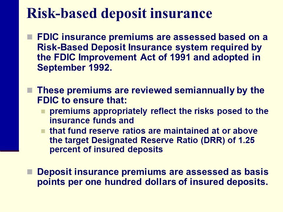 Risk-based deposit insurance
