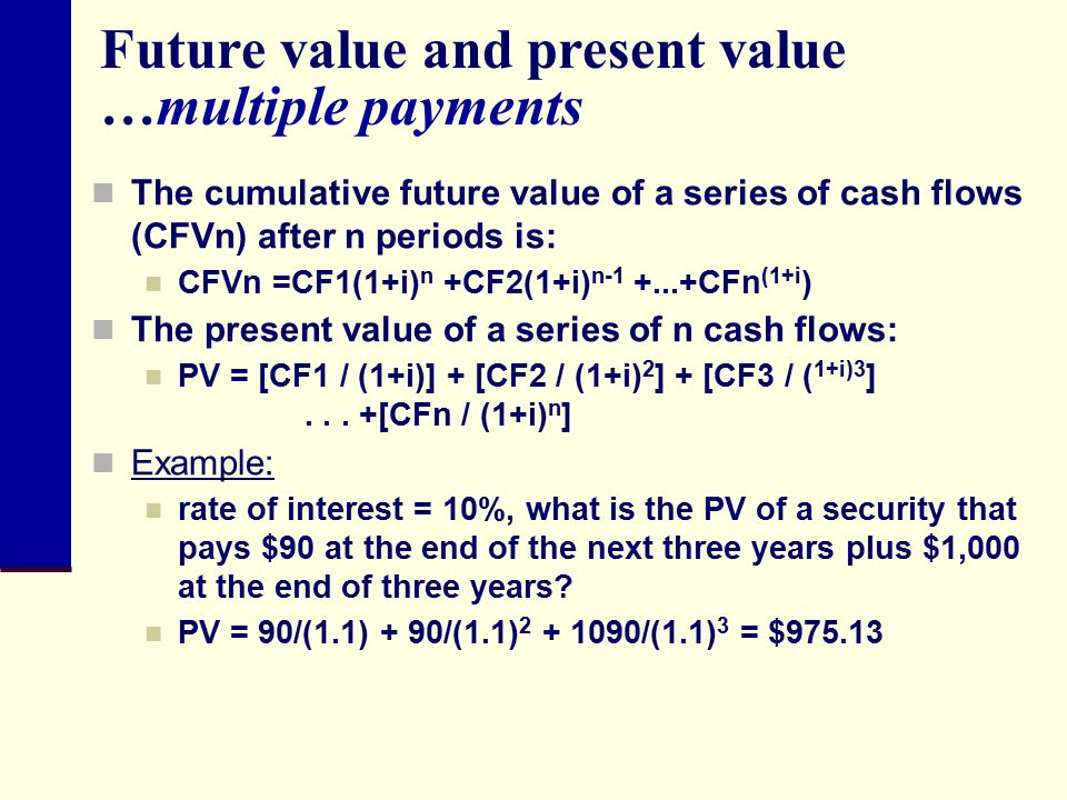 Future value and present value …multiple payments