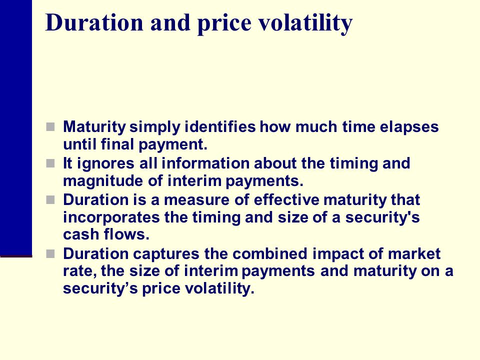 Duration and price volatility
