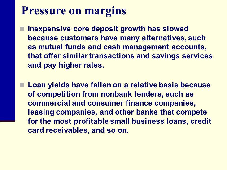 Pressure on margins