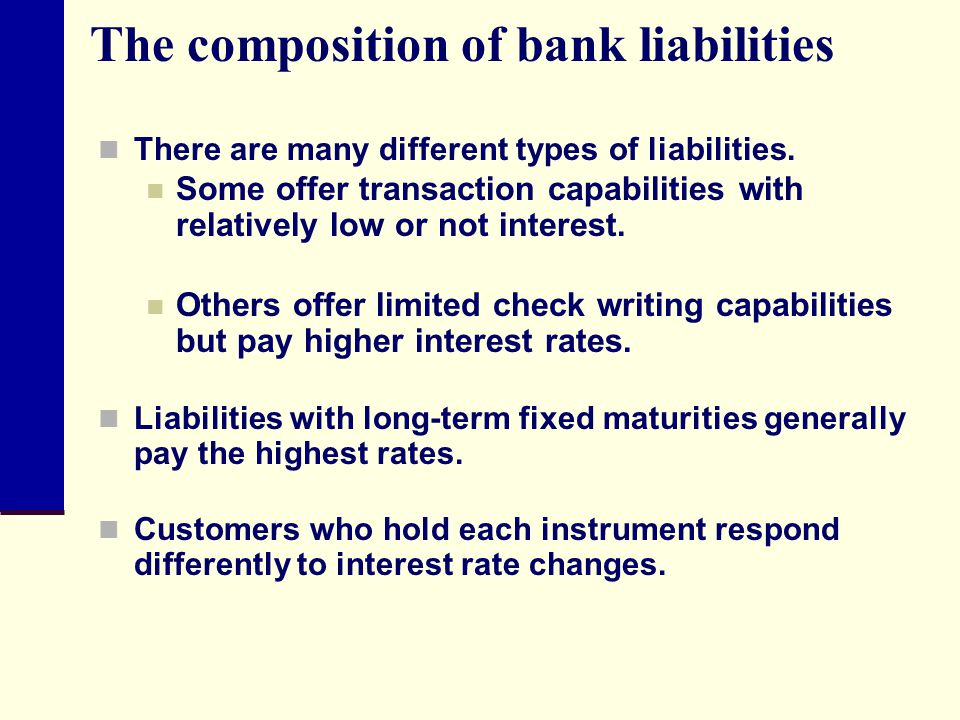 The composition of bank liabilities