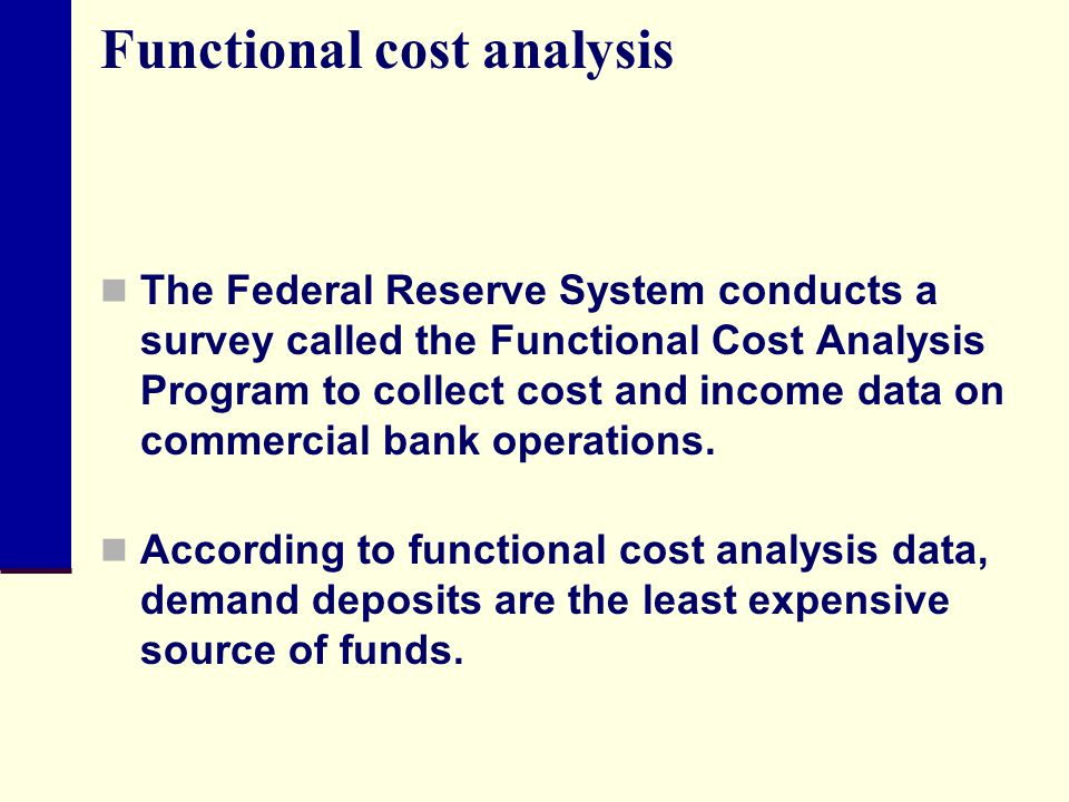 Functional cost analysis