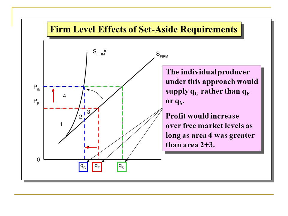 Firm Level Effects of Set-Aside Requirements