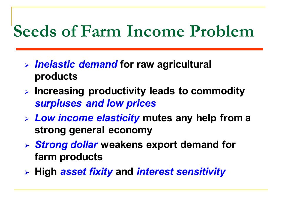 Seeds of Farm Income Problem