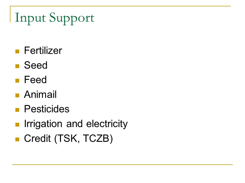 Input Support Fertilizer Seed Feed Animail Pesticides