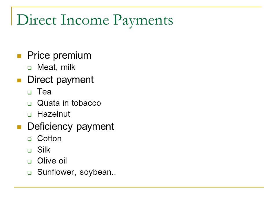 Direct Income Payments