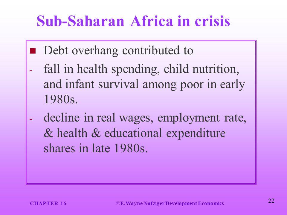 Sub-Saharan Africa in crisis