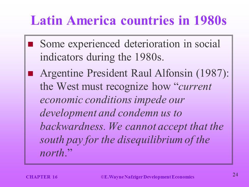 Latin America countries in 1980s