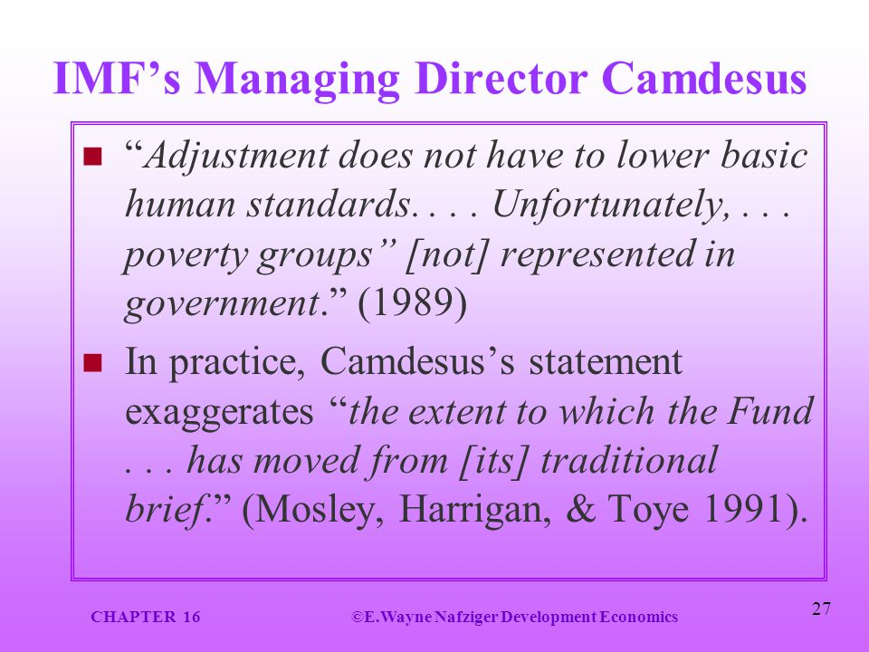 IMF's Managing Director Camdesus
