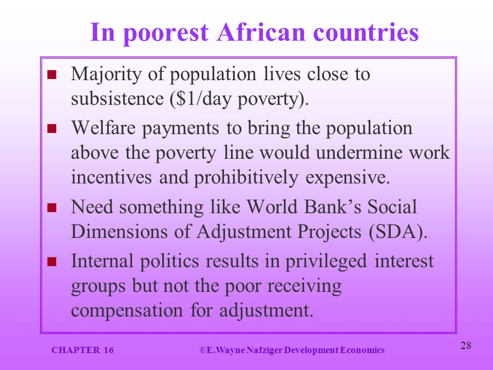 In poorest African countries