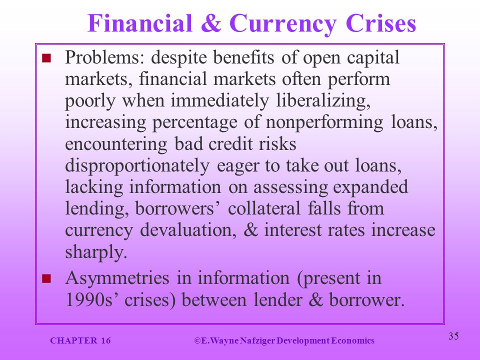Financial & Currency Crises