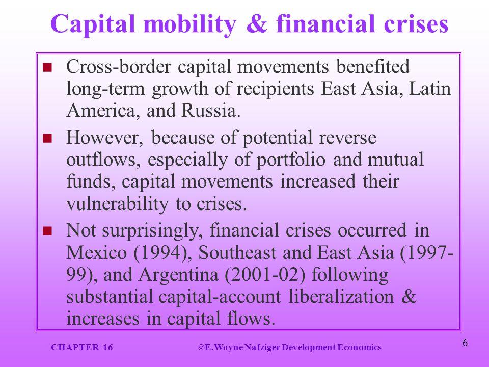 Capital mobility & financial crises