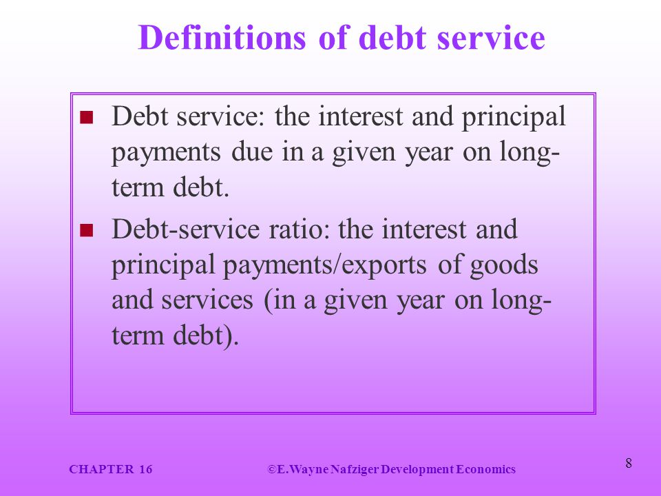 Definitions of debt service