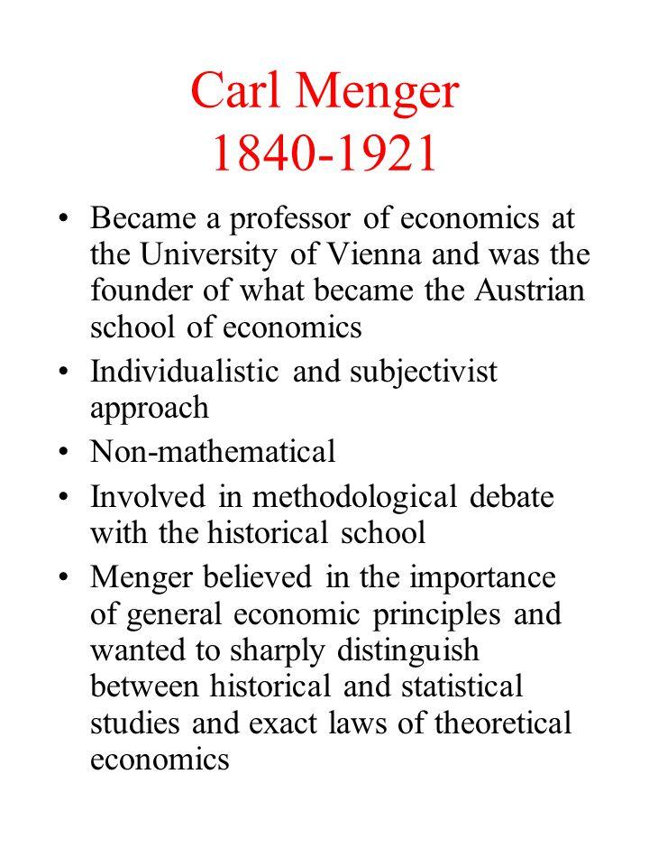 Carl Menger 1840-1921