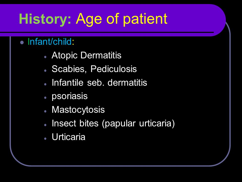 History: Age of patient