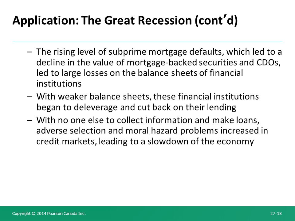 Application: The Great Recession (cont'd)