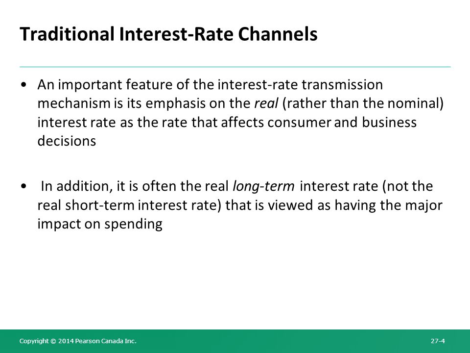 Traditional Interest-Rate Channels