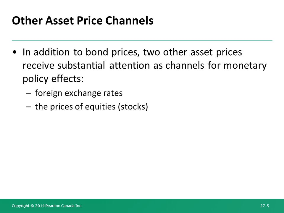 Other Asset Price Channels