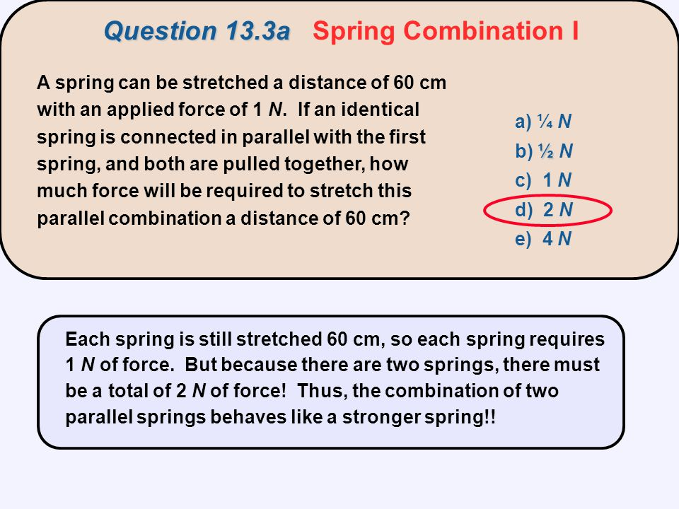 Question 13.3a Spring Combination I