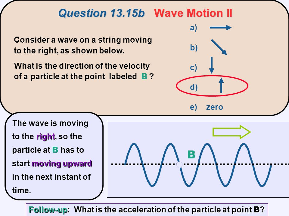 Question 13.15b Wave Motion II