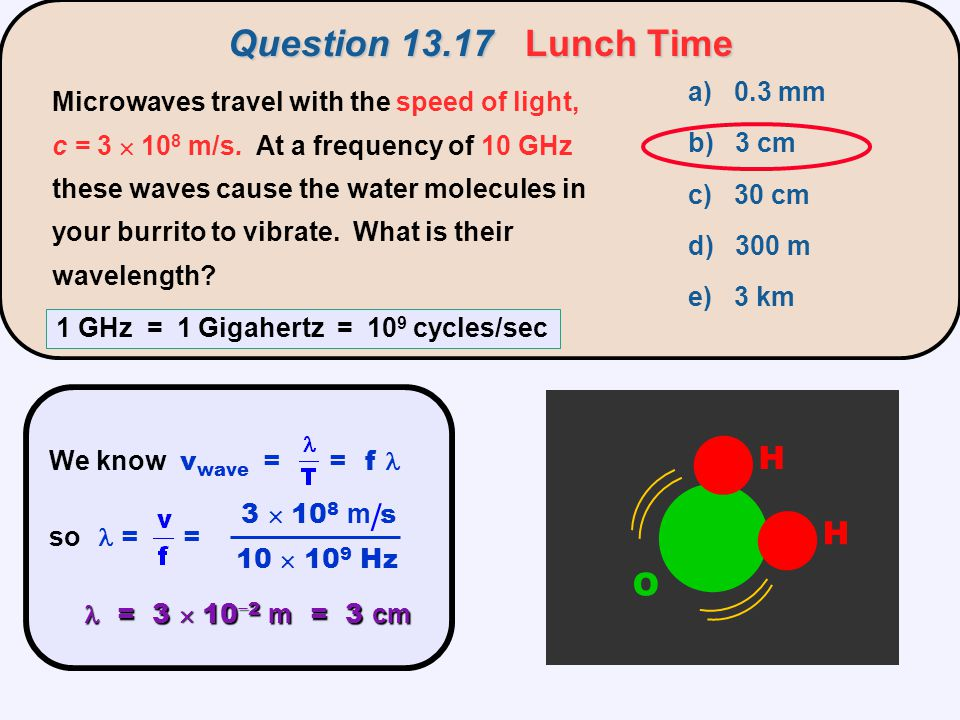 / Question 13.17 Lunch Time H O