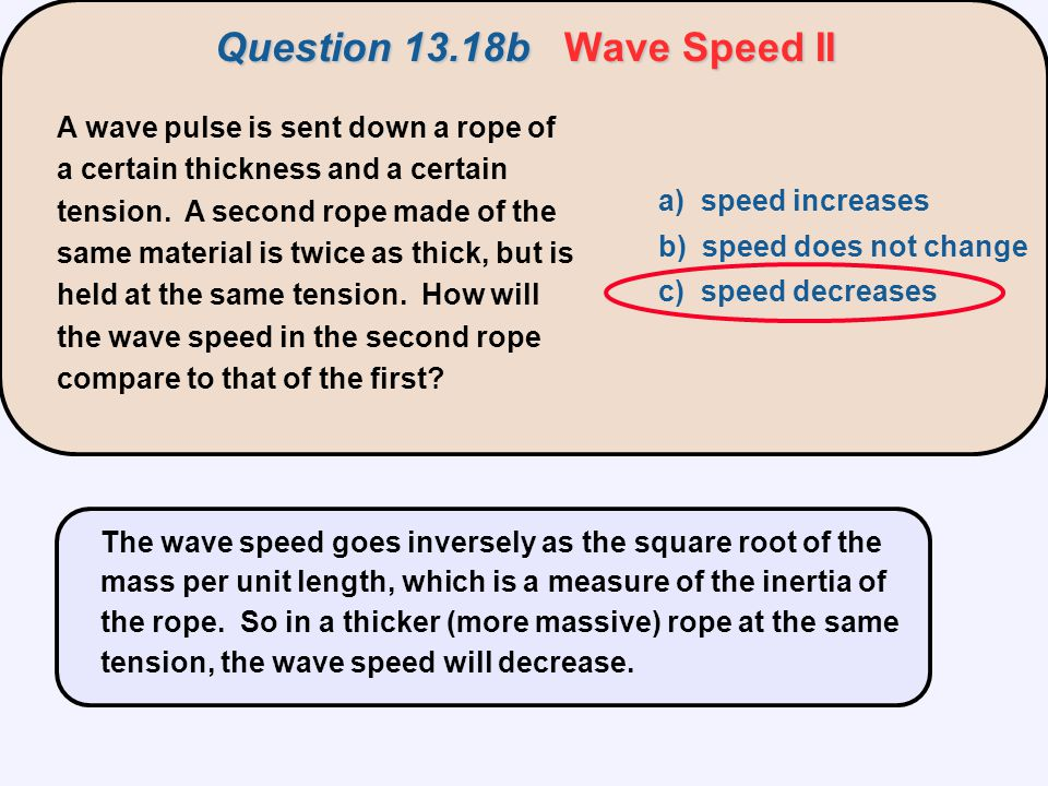 Question 13.18b Wave Speed II