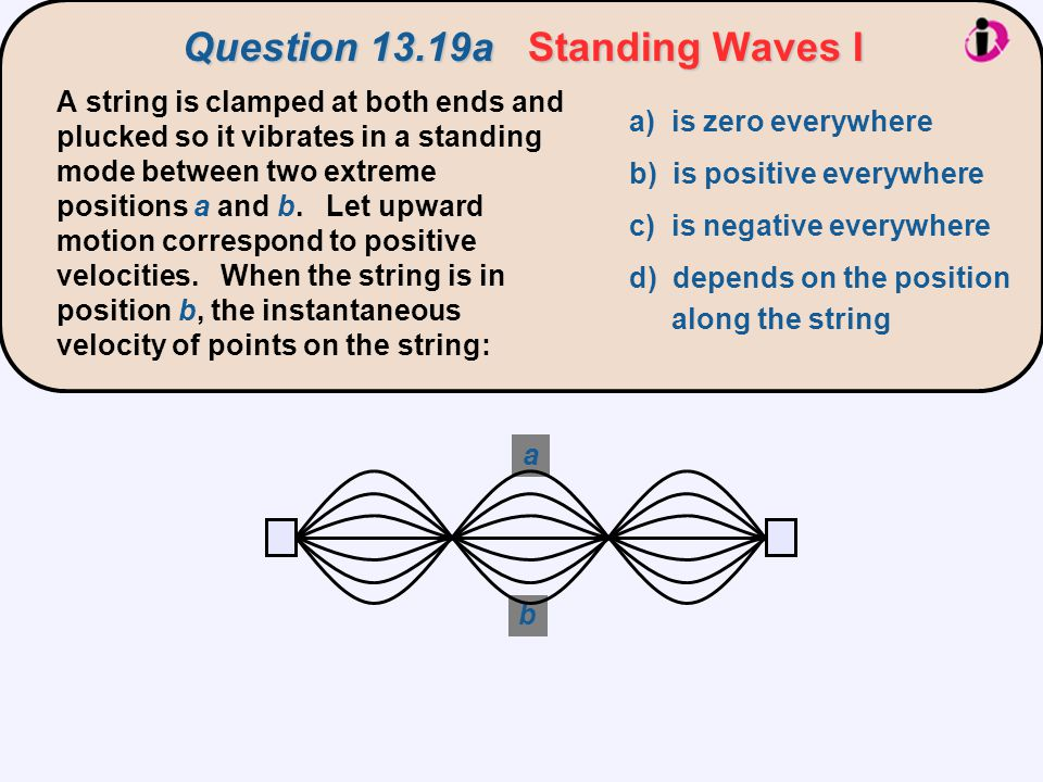 Question 13.19a Standing Waves I
