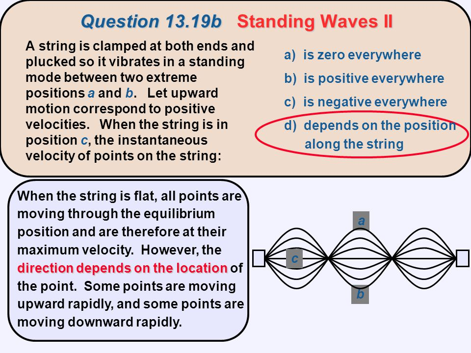 Question 13.19b Standing Waves II