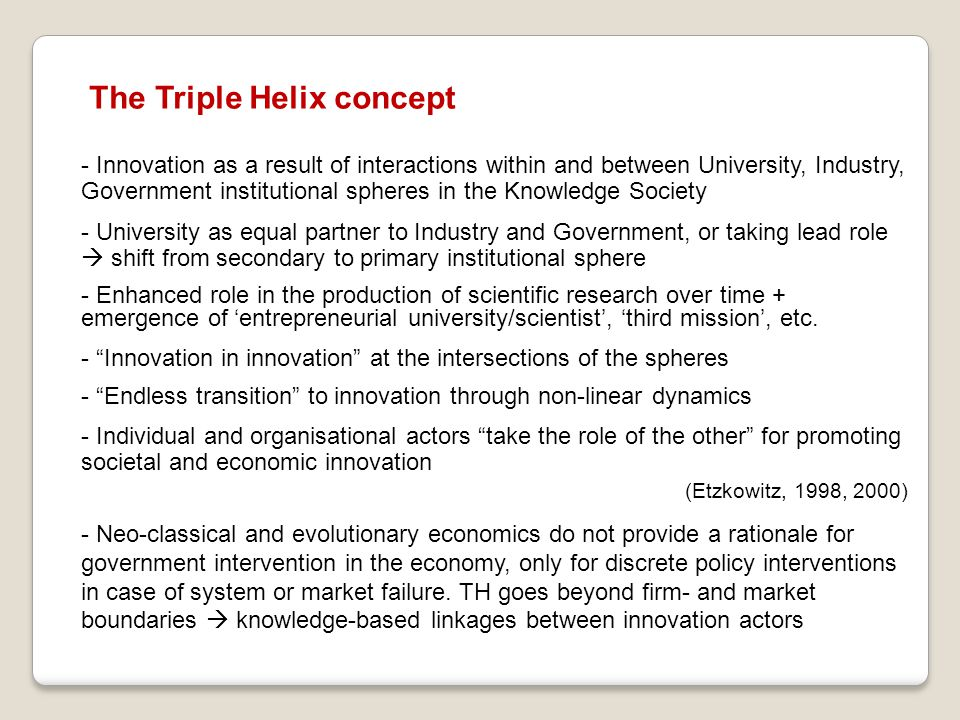 The Triple Helix concept