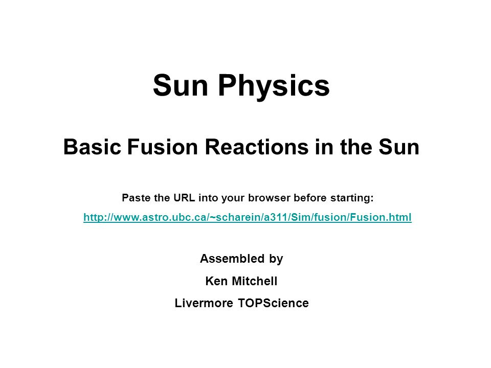 Basic Fusion Reactions in the Sun