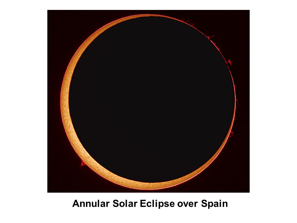 Annular Solar Eclipse over Spain