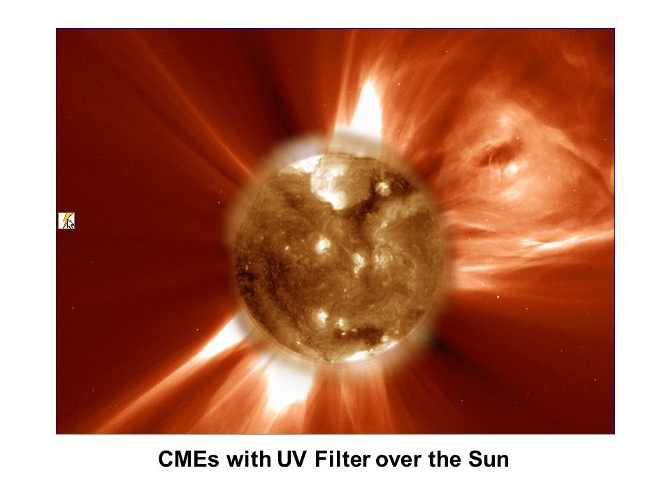 CMEs with UV Filter over the Sun