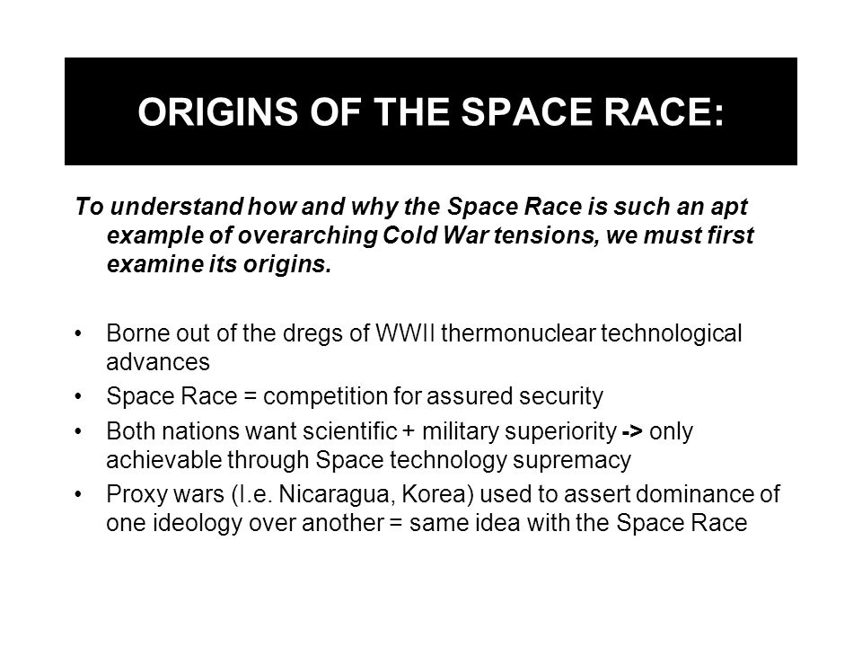 ORIGINS OF THE SPACE RACE:
