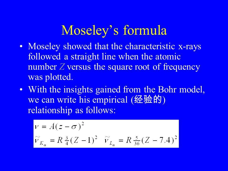 Moseley's formula